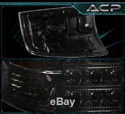 For 09-18 Ram 1500 Replacement LED Style Brake Stop Tail Lights Lamps Set Smoked