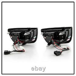 For 10-13 Chevy Camaro 4PCS FULL LED Black Housing Tail Light Brake Signal Lamp