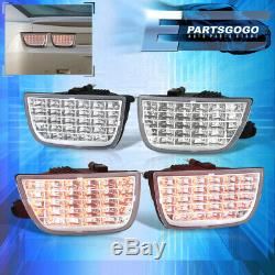 For 10-13 Chevy Camaro Sequential Led 4Pc Chrome Tail Lights Set Left + Right