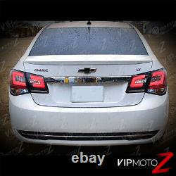 For 10-15 Chevy Cruze OLED NEON TUBE 4PC LED Rear Tail Lights Lamps Black SET