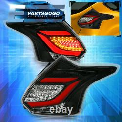 For 12-14 Focus Hatchback Replacement Driving Brake LED Tail Lights Lamps Bk Red