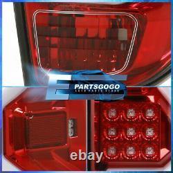 For 14-20 Toyota Tundra Tube LED Brake Tail Lights Lamps Left+Right Red Housing