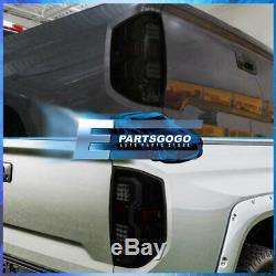 For 14-20 Tundra Black Housing Smoke Lens Tail Lights White Tube Led Replacement