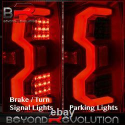For 14-20 Tundra Driving White Tube LED Tail Lights Black Housing Smoke Lens Set