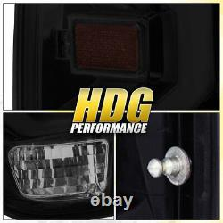 For 14-20 Tundra Rear Tail Light White Tube LED Lamps Chrome Housing Smoke Lens