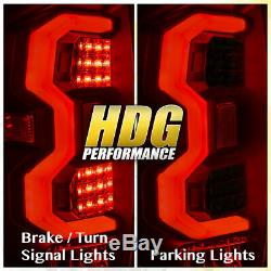 For 14-20 Tundra Rear Tail Lights White Tube LED Lamps Black Housing Smoke Lens
