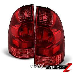 For 2005-2015 Toyota Tacoma Red Rear Brake Tail Lights Lamps LEFT RIGHT Assembly