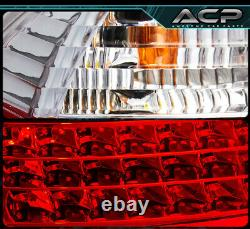 For 2006-2008 BMW 3-Series E90 4DR Sedan Red LED Tail Light Lamps Assembly Pair
