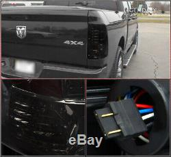For 2009-2018 Dodge Ram Pickup Replacement LED Smoked Brake Tail Lights Lamps