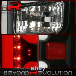 For 2014-2018 Chevy Silverado Black Housing LED Tail Lights Brake Signal Lamps