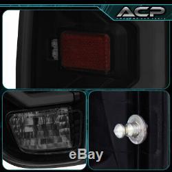 For 2014-2020 Tundra White Bar Tube LED Light Tail Lamps Black Smoke Lens Set