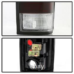 For 86-97 Nissan D21 Hardbody Pickup Tail Light Red Smoke Lens Replacement Lamp