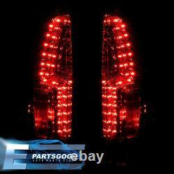 For 88-98 C/K 1500/2500/3500 Pickup Blazer Suburban LED Tail Lights Lamps Smoke