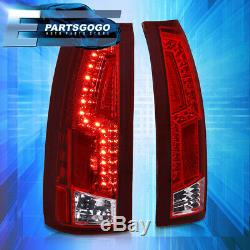 For 88-98 Chevy GMC C/K C10 Sierra LED Brake Tail Lights Lamps Left+Right Red