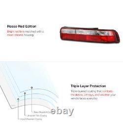 For 90-93 Acura Integra DA B18 GSR VTEC JDM Red Clear Rear Brake Lamp Tail Light