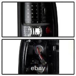 For 94-01 Dodge Ram 1500 2500 3500 Infinity Black LED Brake Signal Tail Lights