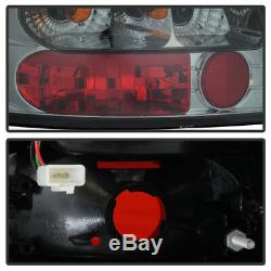 For 96-01 Audi A4 S4 Left+Right Smoke LED Tail Light Brake Signal Lamp Assembly