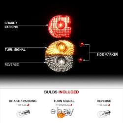 For 99-04 Jeep Grand Cherokee Black Tail Light Brake Signal Lamp LED Side Marker