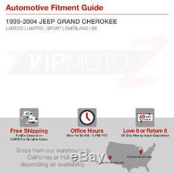For 99-04 Jeep Grand Cherokee WJ Black LED Tail Lamp Signal+Brake Light Assembly