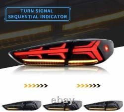 For 9th Hyundai Sonata Tail Lights 2018 2019 LED Smoked Rear Lamp Brake Assembly