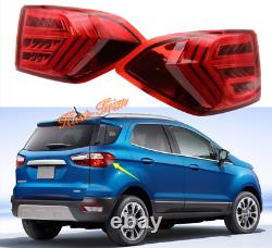 For Ford EcoSport 2013-2019 LED Rear Tail Light Assembly Driving Stop Brake Lamp