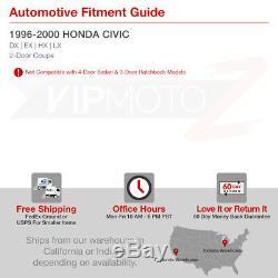 For Honda Civic 96-00 2DR Coupe Left+Right Black Tail Light Brake Lamp Assembly