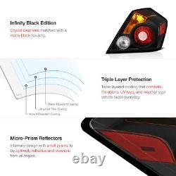 For Nissan Altima 4D Sedan SE-R 2007-2012 Pair Black Taillights Brake Right Left
