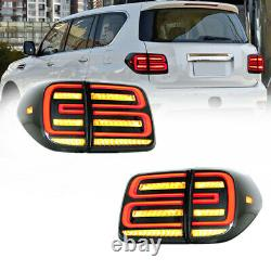 For Nissan Armada 2017-2020 Clear LED Brake Rear Lights Assembly LED Tail Lamps