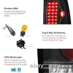 Ford 97-03 F150 99-06 F250 F350 SuperDuty Black LED Rear Tail Light Brake Lamp