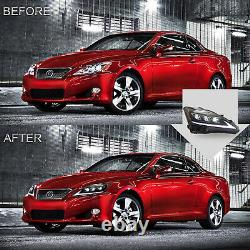 Free Shipping to PR for 06-13 IS250/350 08-14 ISF AMBER Headlights+RED TailLight