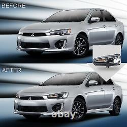 Free Shipping to PR for 08-17 Lancer ALL BLACK Headlights+SMOKED Taillights