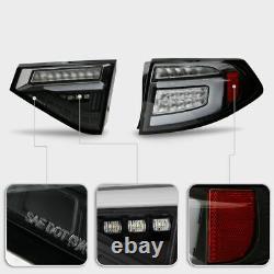 Full LED Sequencial Tail Light For 08-14 Subaru Impreza WRX Hashback Black Clear