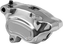 HardDrive Chrome Front-Left Brake Caliper Assembly for Harley-Davidson 84411