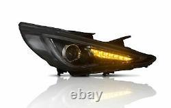 Headlights+SMOKE Taillihgts+H7 Bulb for SONATA 11-14 GLS Limited SE 11-13 GL