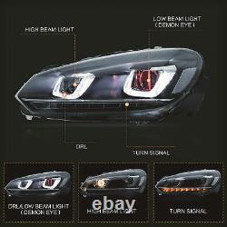 LED Headlight withDEMON EYES+SMOKED RED Taillight for 10-13 Golf MK6 12-13 R