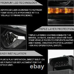 LED Headlights+Taillights+VLAND H7 LED Bulbs for 10-13 Golf MK6 GTI 12-13 Golf R