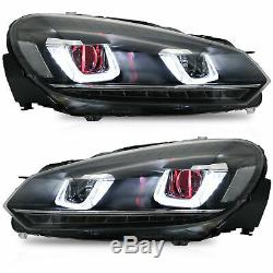 LED Projector Headlights DEMON EYE+Taillight for 10-13 Golf MK6 GTI 12-13 Golf R