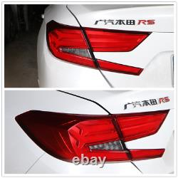 LED Red Tail Lights For Honda Accord 2018 2019 2020 Rear Brake Lamps Assembly