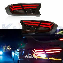 LED Tail Brake Light Smoke Rear Lamp Assembly Fit For Honda Accord 2018 2019