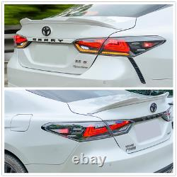 LED Tail Lights For 2018 2019 2020 Toyota Camry Rear Brake Reverse Lamp Assembly