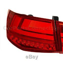 LED Tail Lights L Style For Kia Forte Sedan 10-13 Rear Trunk Brake Reverse