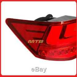 L Style Red Rear Tail Lights LED For Kia Forte 2010-2013 Inner Trunk Brake Lamps