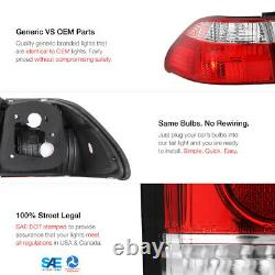 OE STYLE For 98 99 00 Honda Accord 4DR RED CLEARTail Lights Rear Brake RH LH