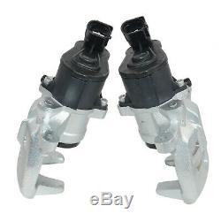 Pair Rear Brake Caliper & Motor Kit For 2004-2011 Audi A6 S6 4F C6 Assemble