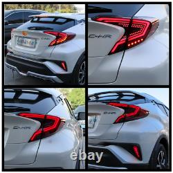 Pair Red LED Tail Lights For Toyota CHR 2018-2019 Rear Lamps Assembly Brake Turn
