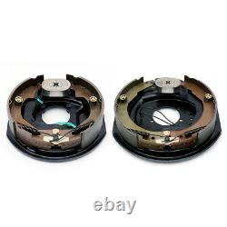 Pair of 2 New 12 x 2 Electric Trailer Brake Assemblies For 7000 lbs Axle