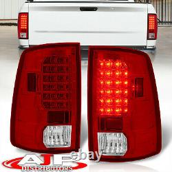 Red Clear Replacement LED Brake Tail Lights Lamps For 2009-2018 Ram 1500 2500