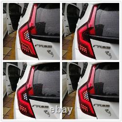 Red LED Tail Lights For Honda Fit/Jazz 2015-2018 Rear Lamp Brake Turn Assembly