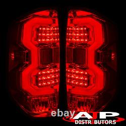 Red Lens LED Tail Lights Brake Lamps Assembly Pair For 2014-2020 Toyota Tundra