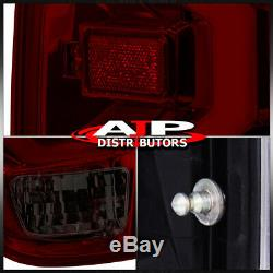 Red Smoked LED Tail Lights Brake Lamps Assembly Pair For 2014-2020 Toyota Tundra